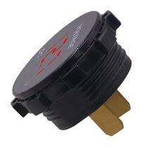 Round Waterproof Auto Boat Car Motorcycle Mini Digital Voltmeter DC6V-30V LED Panel Volt Voltage Meter Tester Monitor Display