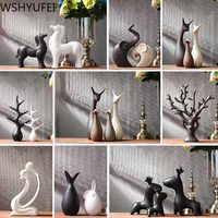 Einfache Moderne Keramik Figuren Wohnzimmer Ornament Einrichtungs Dekoration Handwerk Büro Kaffee Zubehör Hochzeit Geschenk