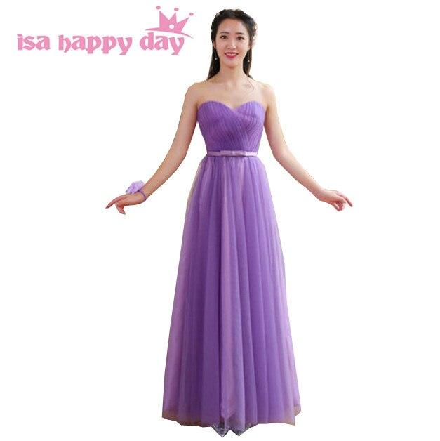 Online Shop eggplant tulle size beautiful bridemaids gown bridesmaid ...