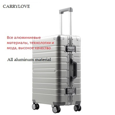 CARRYLOVE All aluminum material, technology and fashion, high quality 20/24/28 size travel Luggage Spinner brand Travel Suitcase