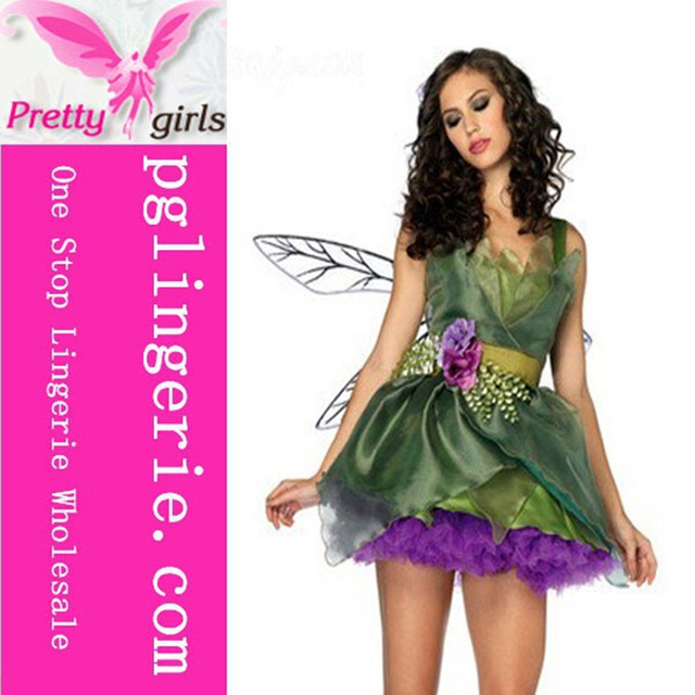 d71e387803d Free Shipping Hot Sale latex angel costume sexy green angel costume adult  costume angel wings