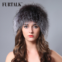 Epacket Free shipping Russian winter animal fur hat white hand knitted real fox fur hats for women