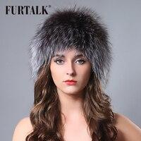 Epacket Gratis verzending Russische winter dier bontmuts witte hand gebreide echt vossenbont hoeden voor vrouwen
