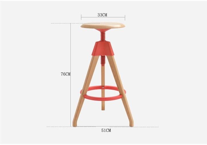Barbiere nordic pop sgabello tavolino sgabello rosso colore bianco