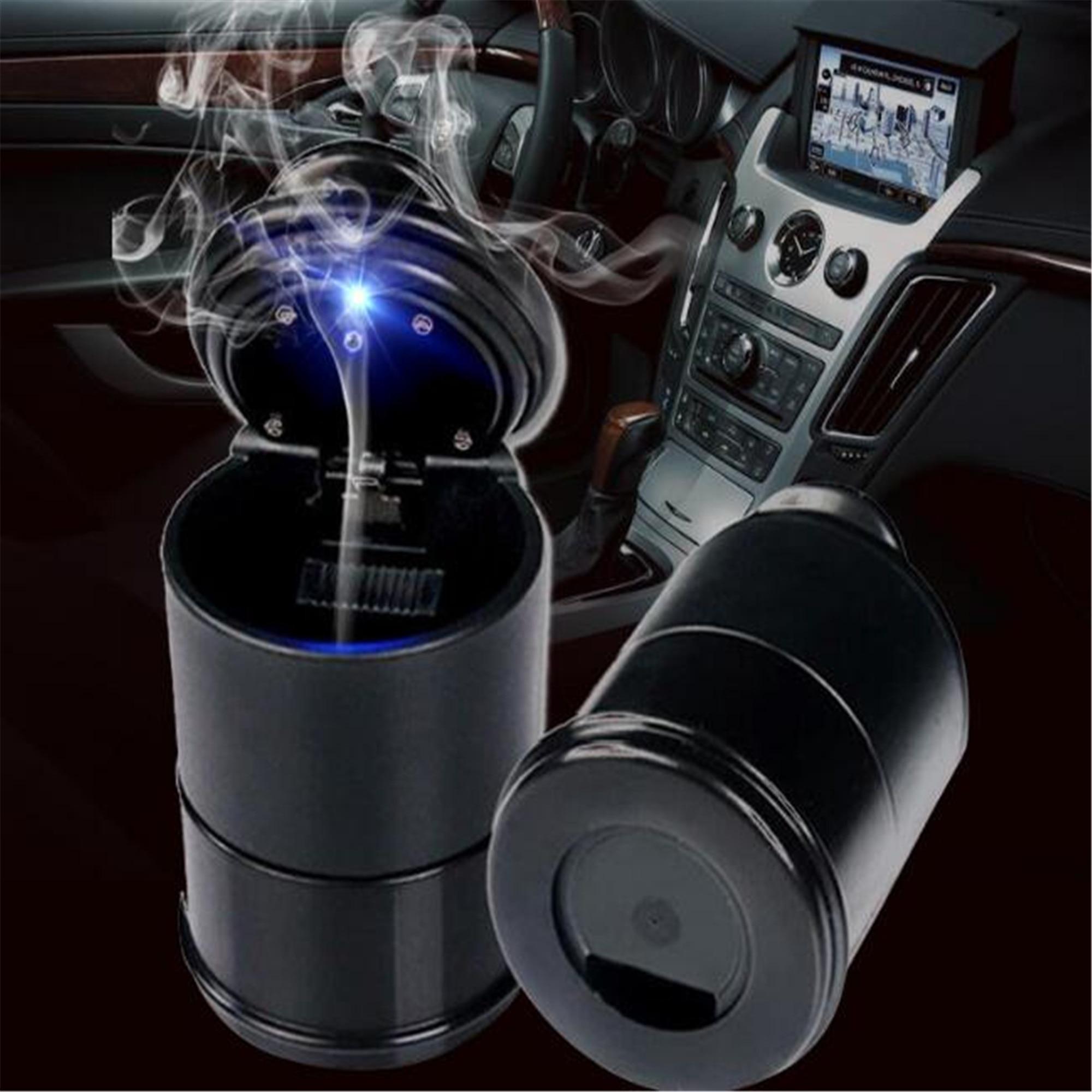 Unparteiisch 1 Pc Auto Auto Aschenbecher Led Blau Led Licht Zigarette Rauch Asche Zylinder Bin Für Honda Hr-v Fit Accord Civic Cr-v City Jazz Crider