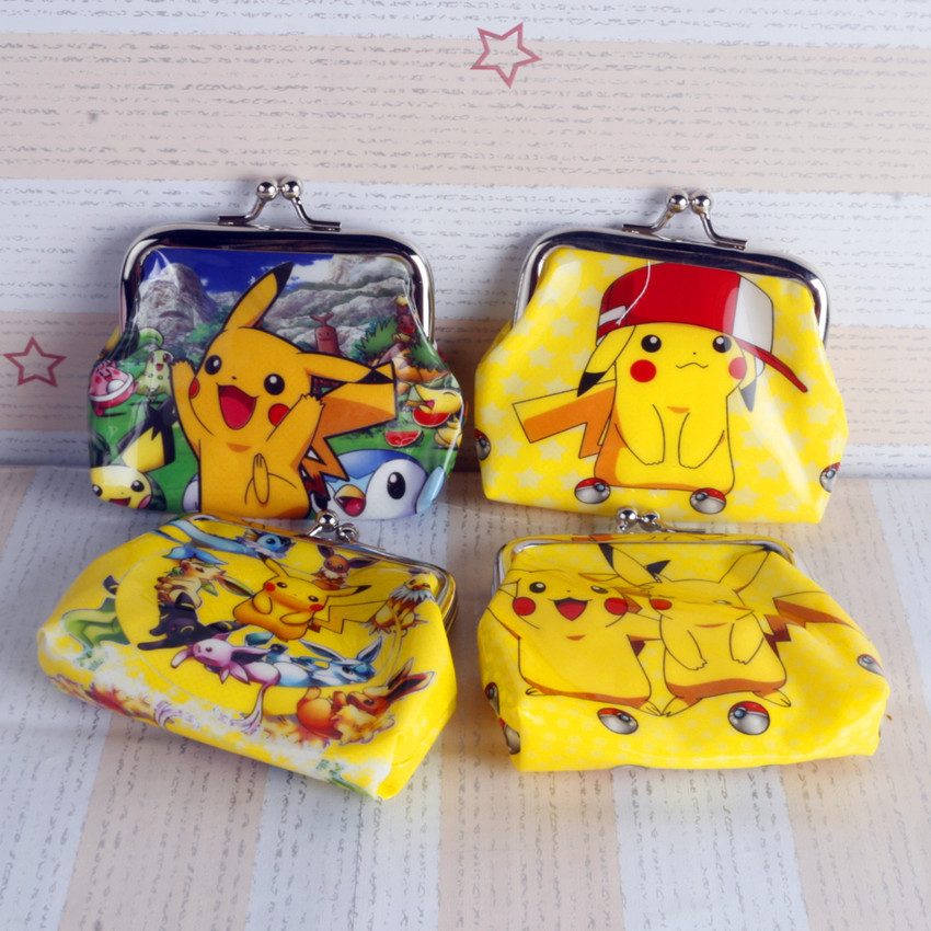 12Pcs Pokemon Pikachu Sofia Snow White Princess Purses Money Bag Coin Pouch Children Purse Small Wallet For Kids Party Gift
