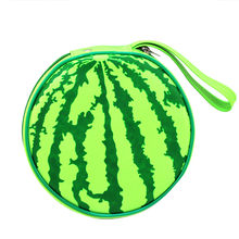 New Arrival Fashion 2018 15cm*4cm Funny Watermelon CD Bag Cosmetic Bag Storage Bag With High Quality Hot Sale For Home Decor#35(China)