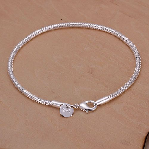 KN-H187 Chain Link Bracelet silver plated Wholesale Factory price 925 free shipp