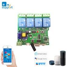 Módulo de interruptor inalámbrico Wifi de Control remoto inteligente eWeLink 1CH/4CH DC5V 12 V 32 V 220 V  bloqueo RF recibir 10 a relés
