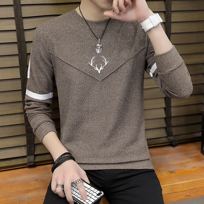 men sweater fashion  thin knitting render printed stripe unlined upper garment of cultivate one 's morality sweater 3