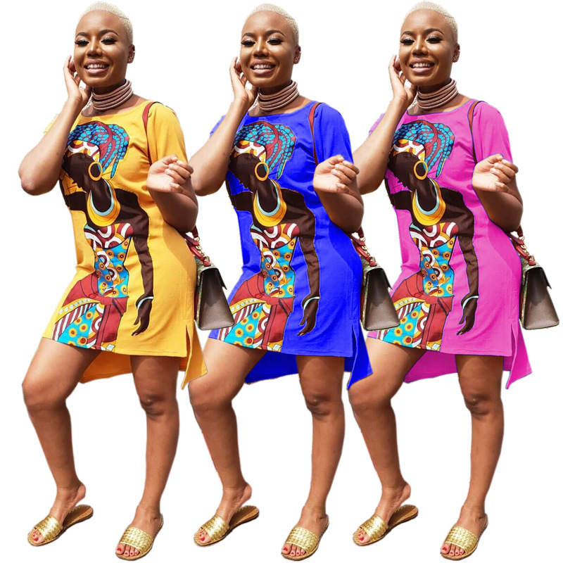 2019 African Clothing Dresses Sexy Retro National Big Auspicious Dashiki Fashion Loose