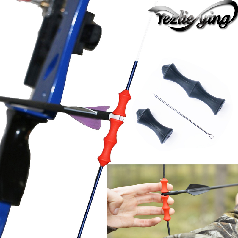 Archery Recurve Bow Finger Guard Bowstring Saver Tab Silicone Hunting Gear