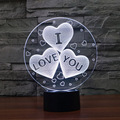 Multi-shaped 3D Gradient Illusion Lamp I Love You Acrylic Novelty Light Romantic Valentine's Day Gift for Lover with USB Line