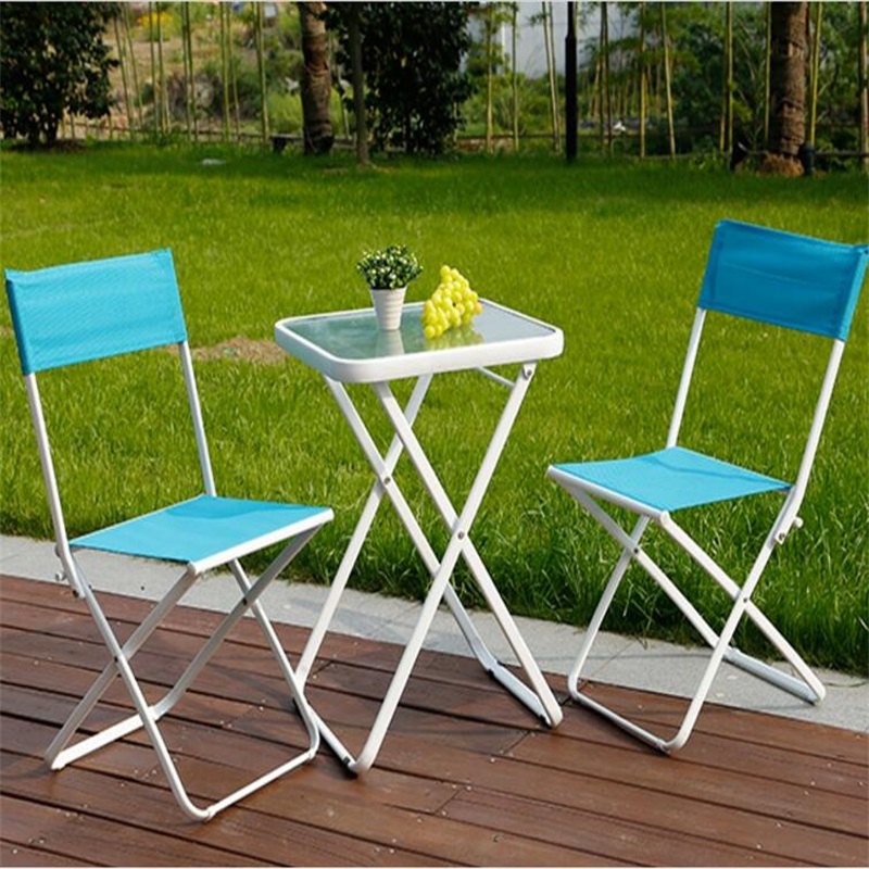 Modern leisure outdoor desk table chairs balcony garden furn.