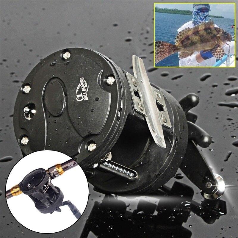 Plastic Boat Fishing Reel Spool Gear Metal Rocker Portable Dripping Wheel Black Durable
