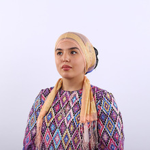 New Womens Hijabs National wind scarf headscarf silk long Head Cap Hat Ladies Hair Accessories Muslim Scarf Wholesale
