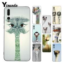 Yinuoda cute ostrich bird animals Design Phone Case for Huawei P9 P10 Plus Mate9 10 Mate10 Lite P20 Pro Honor10 View10(China)