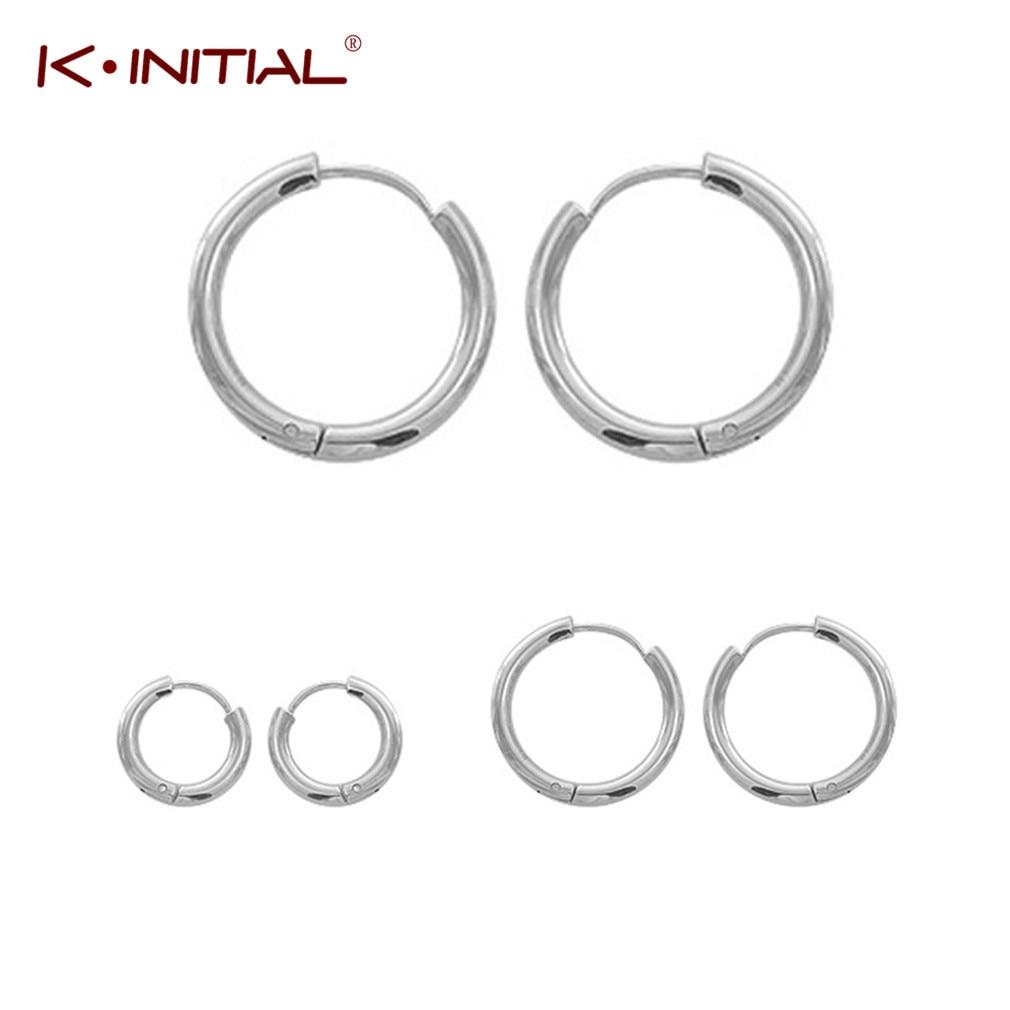 Kinitial новинка, кольца серьги простые гладкие круглые серьги баскетбол Brincos, можно носить с серьги-петли для Для женщин пирсинг ювелирные изде...