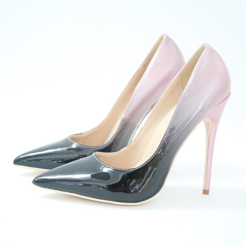Eunice Choo Luxury Leaf Decorated Design Silk Party Wedding Women Pumps  Pointed Toe Wedding Pumps Sexy High Heels Ladies Shoes a0024f142cae