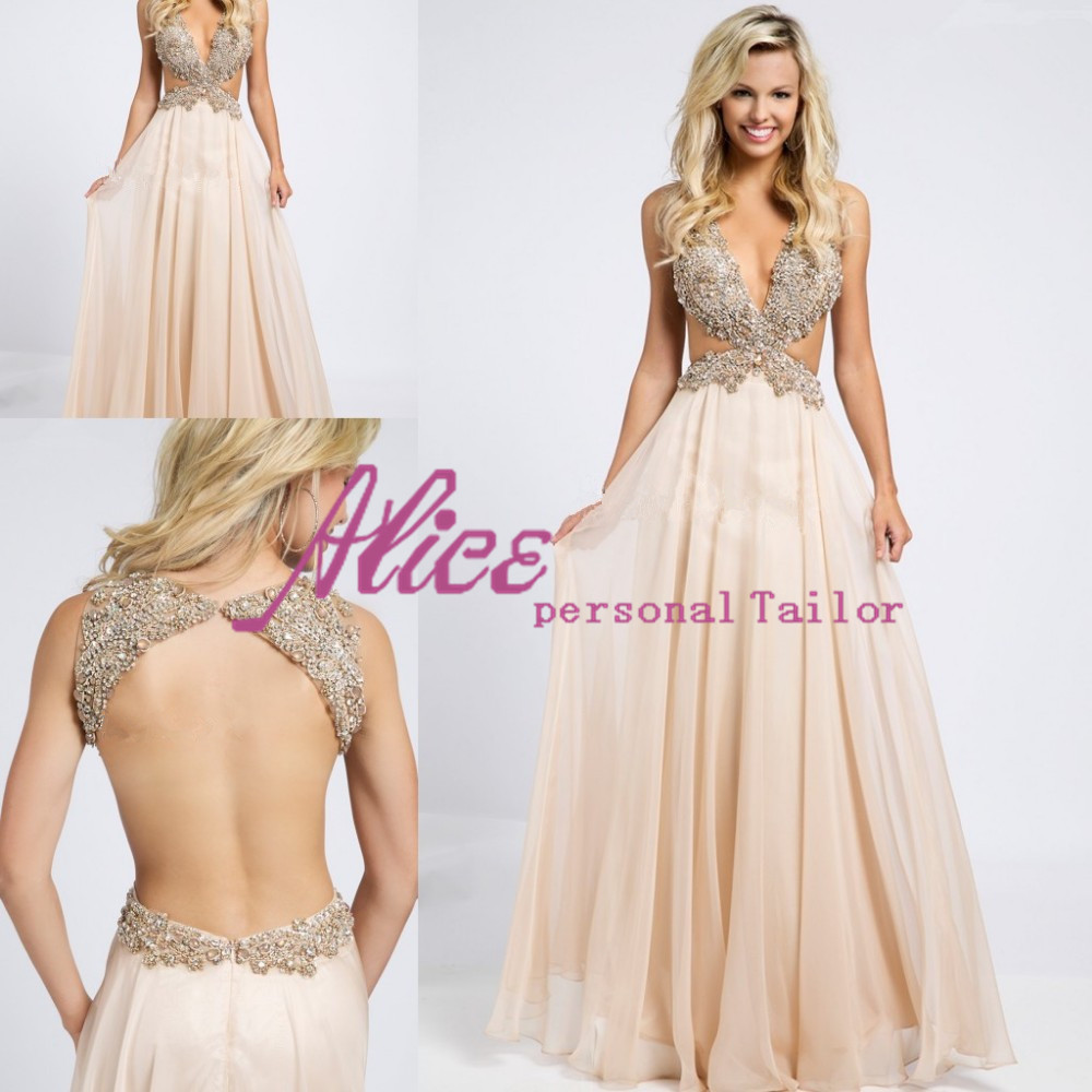 prom dresses with open back and sides