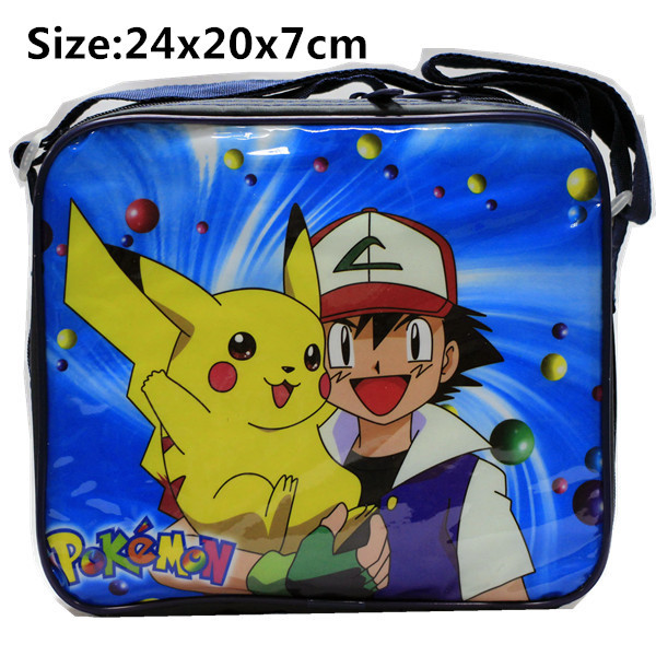 Pokemon Pikachu Insulated Cooler Snack Lunch Bag tote + Lunch Box & Bottle V2