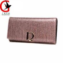 Lady wallet female long Genuine Leather 2017 European style simple multi-functional wallet Women's handbag SFL-63888
