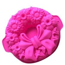 Bow Bakeware Silicone Cake Mold DIY Baking Tools Creative