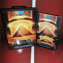 Stargate EU Cover with box and manual For Sega Megadrive Genesis Video Game Console 16 bit card