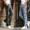 2016 new winter snowflake stretch slim pants jeans pants youth
