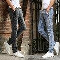 2016 novo inverno do floco de neve estiramento magro calças calças jeans juventude