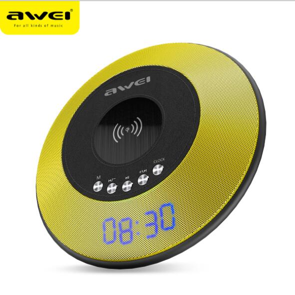 Y290 NFC Bluetooth Speaker With Wireless Charger Mini Portable Loudspeakers Sound Box Alarm Clock AUX