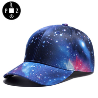 PLZ Design Brand Galaxy Baseball Cap Men Summer Fashion Cap Women Hats Visor Swag Universe Style