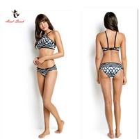 2017 Ariel Sarah Brand New Arrival Swimwear Women High Neck Bikini Digital Printing Sexy Bikini Traje