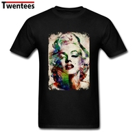 Men Short Sleeve O-neck Plus Size T Shirts Hip Hop Pop Marilyn Monroe Men's T Shirt Birthday Gift