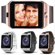 Лучшие Слизняк Горячие DZ09 Smart часы с Bluetooth Камера SIM/TF телефон часы наручные часы для IOS Android HUAWEI телефон россии наличии