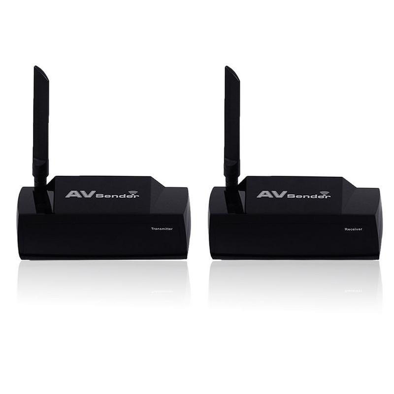 HDMI Wireless AV Sender TV Audio Video Sender HDMI Transmitter Receiver AC100-240V Long range audio video transmission 1 2ghz 10w long range 30km wireless video and audio transmitter with 4 channels wireless sender good for helicopter