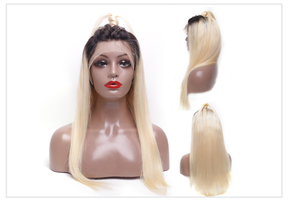 ombre blonde Lace Front Wig4