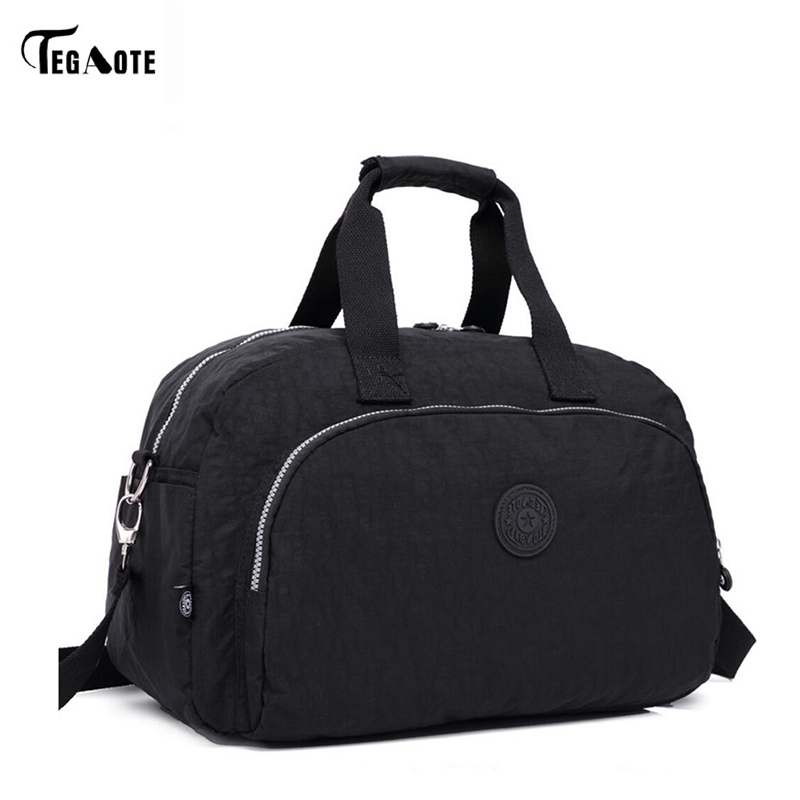 TEGAOTE Women Travel Bag Large Capacity Duffle Luggage Bags Big Casual Tote Nylon Waterproof Female Handbags Luxury Brand Bolsas tegaote women travel bag large capacity duffle luggage bags big casual tote nylon waterproof female handbags luxury brand bolsas
