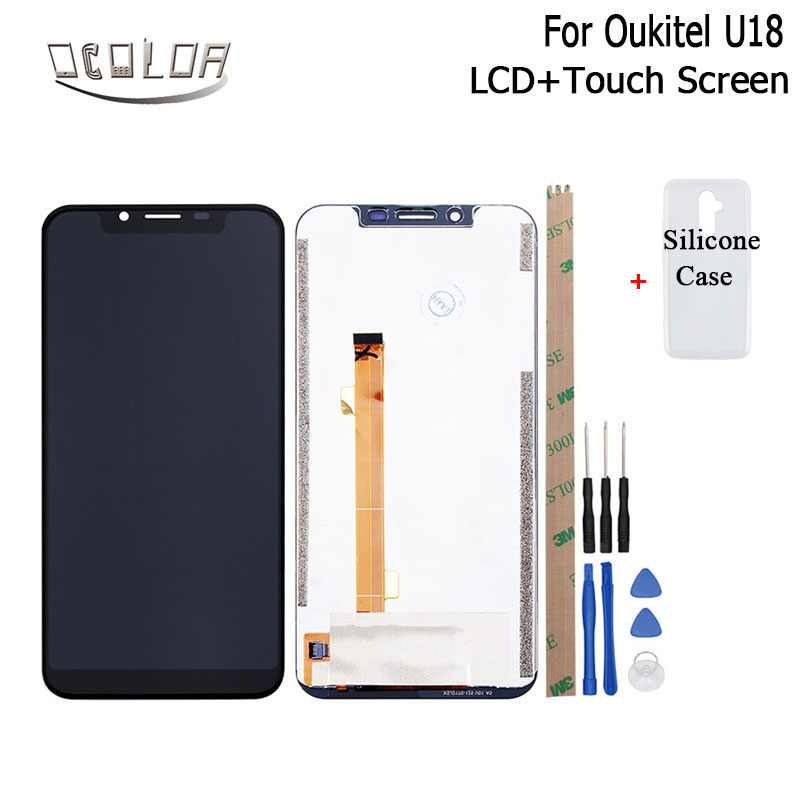 ocolor For Oukitel U18 LCD Display and Touch Screen With Tools And Adhesive Case 5 85
