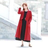 ORIGOODS Kimono Long Shirt Blouse Women Long sleeve Autumn 2018 Plus size Long Shirt Outwear Vintage Kimono Tops Blusas C184