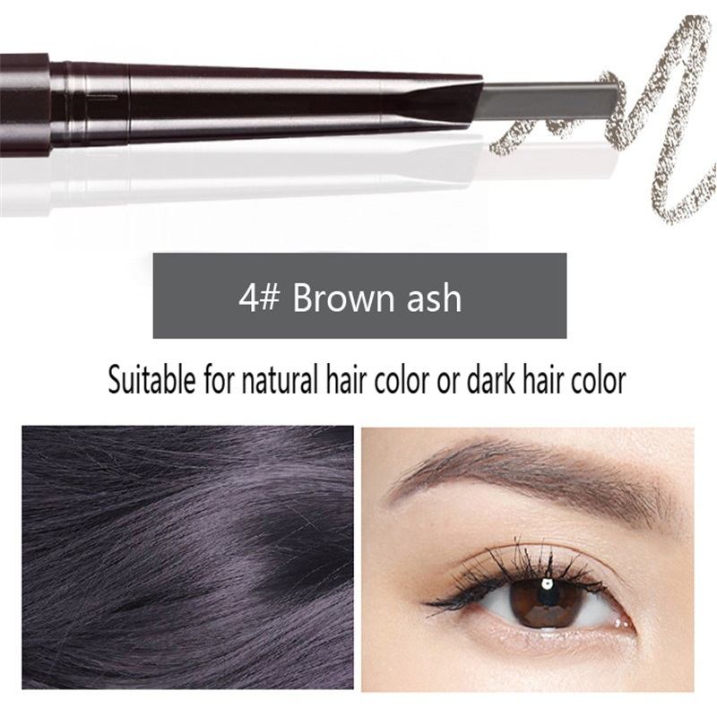 Hot Sale Eyebrow Automatic Tattoo Pen Waterproof Eye Makeup 5colors Easy Use Eyebrow Pencil Eyebrow #01 natural cool black 5