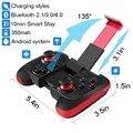 BEBONCOOL Беспроводная Связь Bluetooth Регулятор Игры Геймпад Планшетный ПК Игры с Зажимом (Красный и Черный)