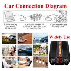 Image 2 - KROAK Power Inverter Max 10000W DC 12 V to AC 220V 240 Volt Car Adapter Charge Converter Modified Sine Wave USB Transformer