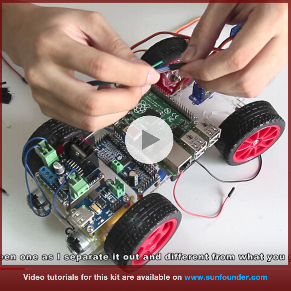 Image 3 - SunFounder Smart Remote Control Video Car Kit for Raspberry Pi 3 with Android APP Compatible with RPi 3 Model B+ B 2B 1 B+-in Demo Board from Computer & Office
