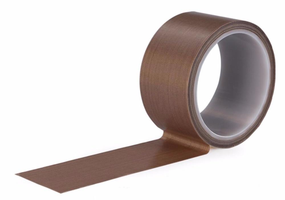 Length: 10M Width: 40mm Thickness: 0.13mm Fabric Tape PTFE Heat Tape Teflon Fiberglass Fabric Adhesive Tape Self Adhesive