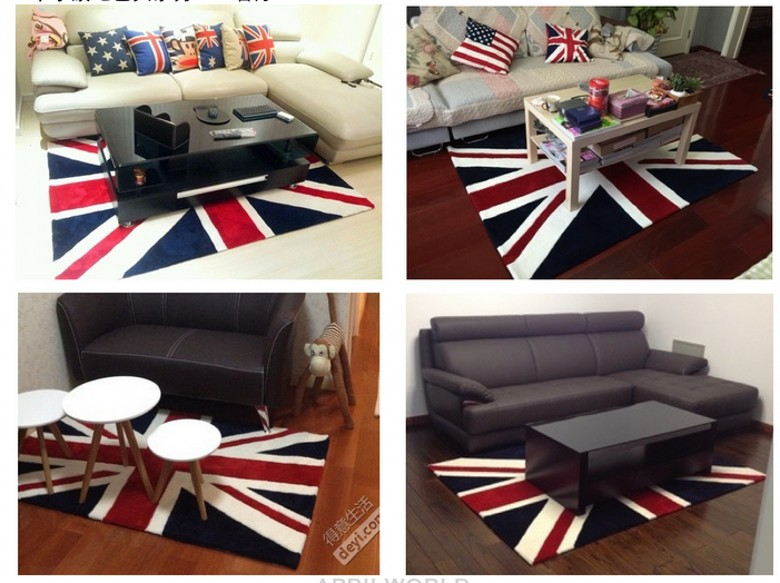 Nostalgic Inghilterra stile morbido caldo comodino tappeto per ...