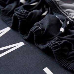 Image 4 - Parkshin ファッション手紙弾性ソファカバータイトなラップオールインクルーシブソファリビングルーム断面ソファカバー用カバー