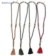 Винтажные четки ручной работы хрустальные бусины китайское ожерелье
