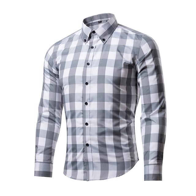 Camisa a cuadros de Los Hombres Slim Fit Casual Camisa de