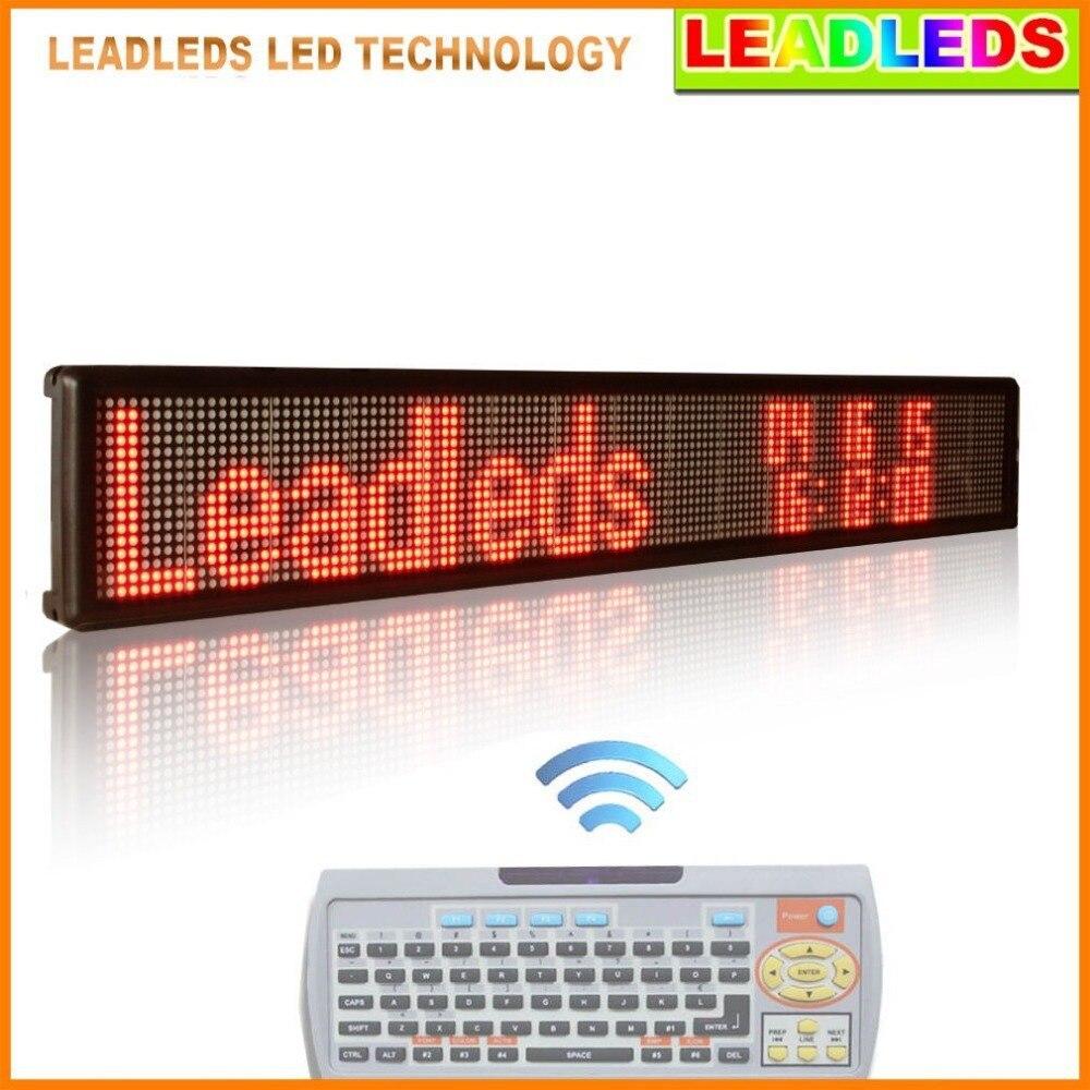Красный светодиодный дисплей Крытый программируемый две линии прокрутки текста сообщения светодиодный дисплей доска для бизнеса и магази